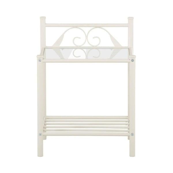 Biely nočný stolík Støraa Bibi