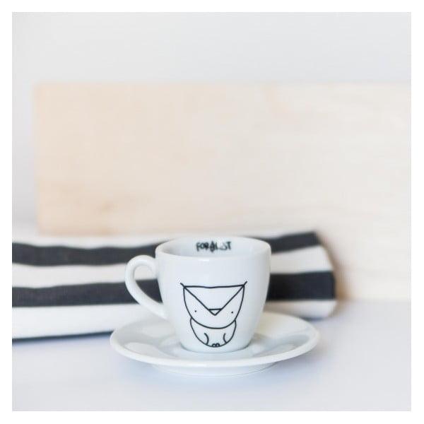 Hrnček na espresso s tanierikom Owl, 100 ml