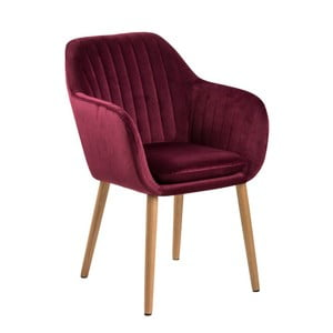 Vínovočervená jedálenská stolička Actona Emilia Vic