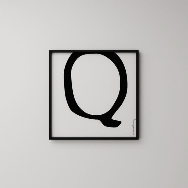 Plagát Litera Q, 50x50 cm