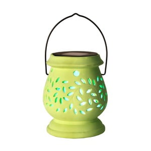 Svietnik Solar Energy Clay Lantern Green