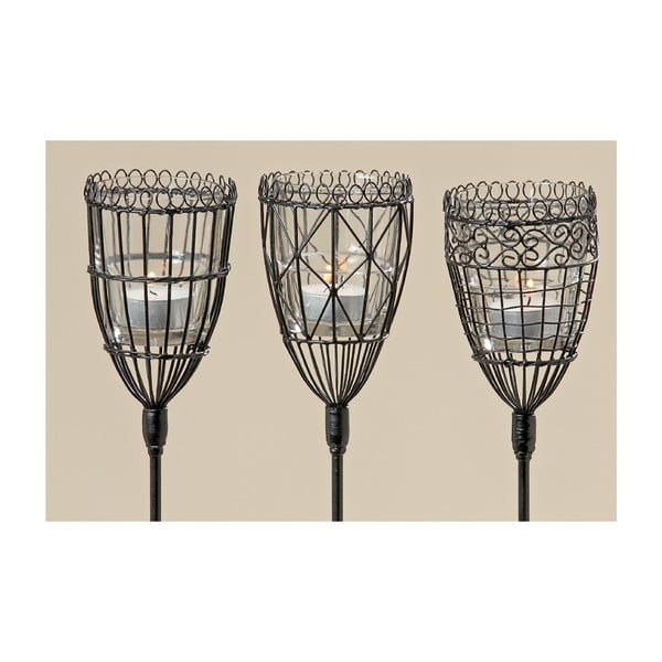 Sada 3 zapichovacích záhradných lampášov Yaser