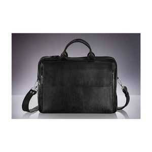 Pánska kožená taška Solier SL30, čierna