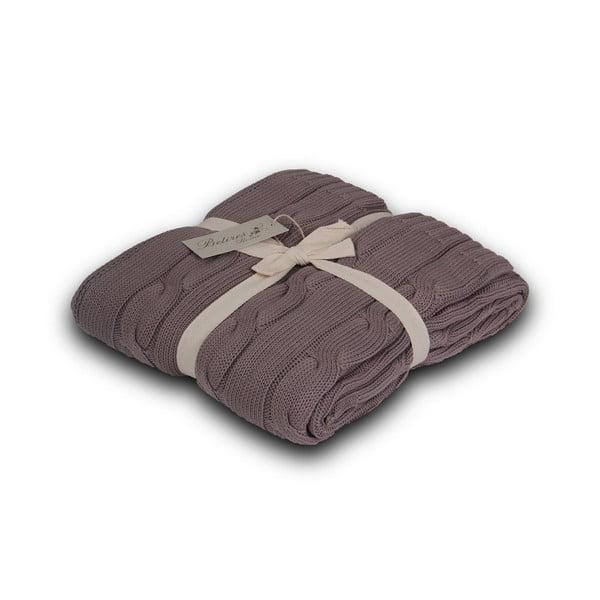 Hnedá deka Homemania Couture Light Brown, 130x170 cm