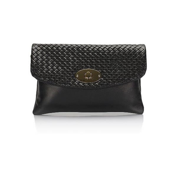 Čierna kožená listová kabelka Giulia Massari Medea