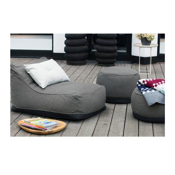 Záhradný sedací puf/stolík Storm vhodný do každého počasia, 40x50 cm
