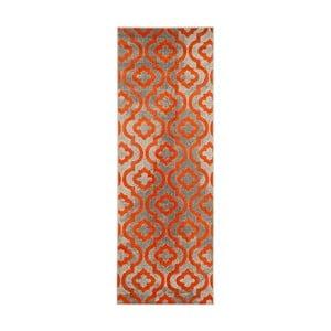 Vysokoodolný behúň Floorita Evergreen Grey Orange, 70 x 275 cm