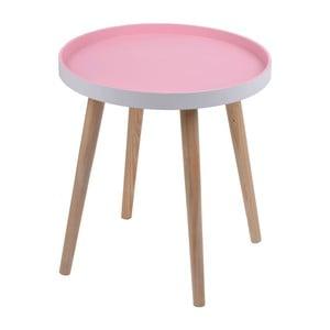Ružový stolík Ewax Simple Table, 48cm