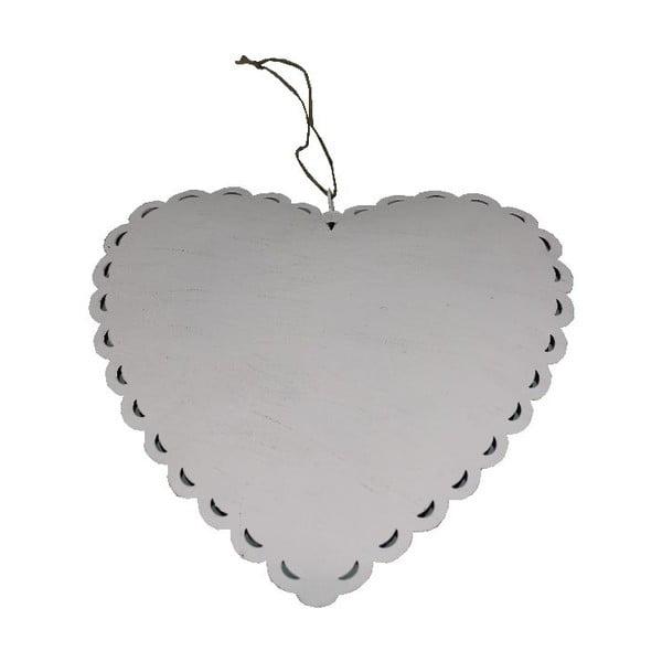 Závesná dekorácia Antic LineRomantic Heart, šírka 28 cm
