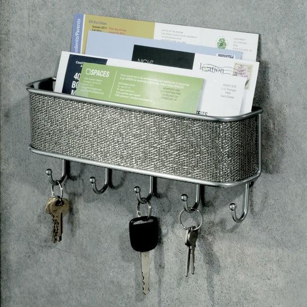 Nástenný vešiak na kľúče s priehradkou na listy InterDesign Twillo