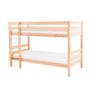 Detská poschodová posteľ z masívneho bukového dreva Mobi furniture Mark, 200×90cm