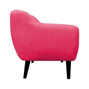 Ružové kreslo Mazzini Sofas Toscane, čierne nohy