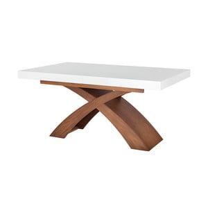 Rozkladací jedálenský stôl s bielou doskou Durbas Style Galaxy, 160×100 cm