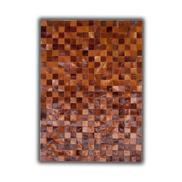 Koberec z pravej kože Brown Tones, 140x200 cm