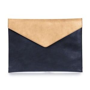 """Béžovo-modrý kožený obal na notebook 13"""" v tvare obálky O My Bag Office"""