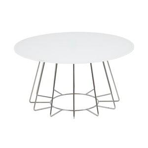 Konferenčný stolík Casia,výška 40cm, biely