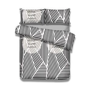 Sada bavlnenej obliečky na perinu a 2 obliečok na vankúše AmeliaHome Averi Sweet Home Light, 200×220 cm + 70×80 cm