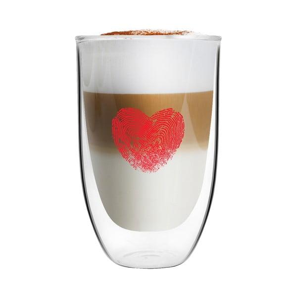 Sada 2 pohárov z dvojitého skla s potlačou Vialli Design, 350 ml