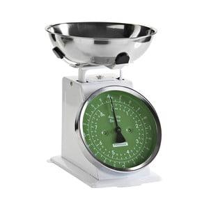 Kuchynská váha White Retro, zelený ciferník