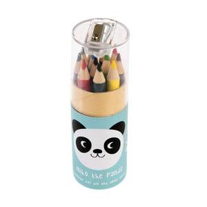 Sada 12 pasteliek v škatuľke Rex London Miko The Panda