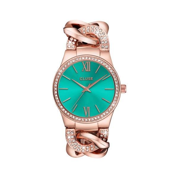 Dámské hodinky Brillante Rose Gold/Mint, 38 mm