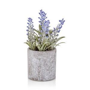 Umelá levanduľa v betónovom kvetináči The Mia Provence