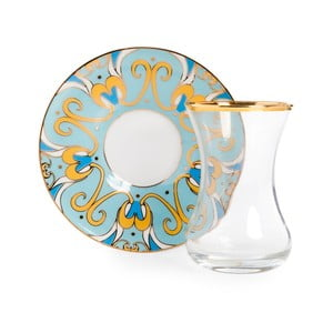 Set pohára s tanierikom Vivas Viena, 100 ml