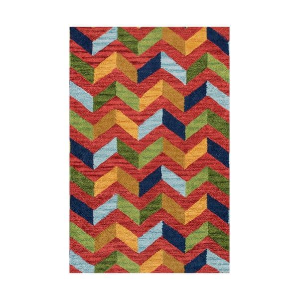 Vlnený koberec Wimbledon, 70x140 cm, červený