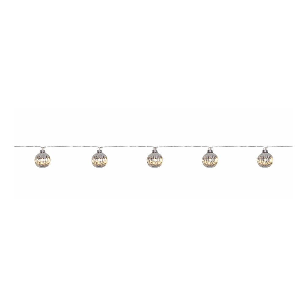 Transparentná svetelná LED reťaz Markslöjd Solo, 10 svetielok, dĺžka 210 cm