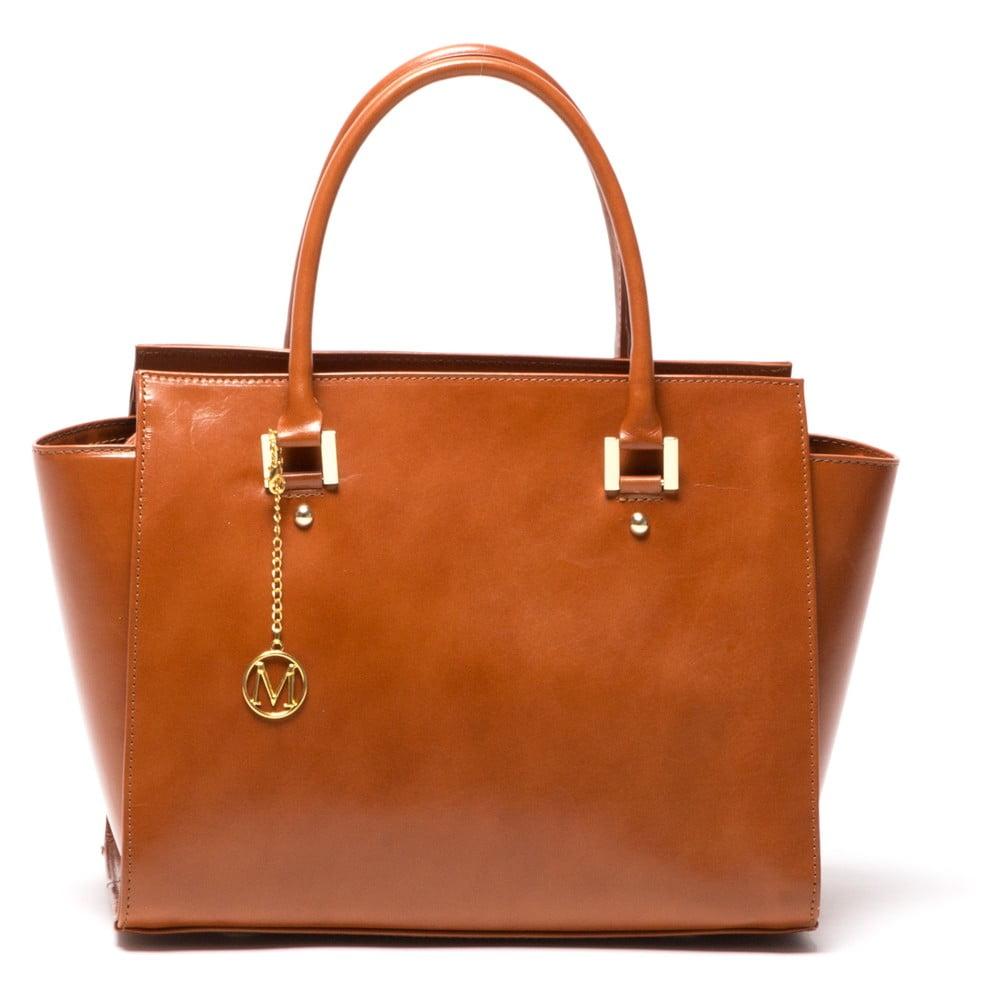 Kožená kabelka Isabella Rhea 382 Cognac