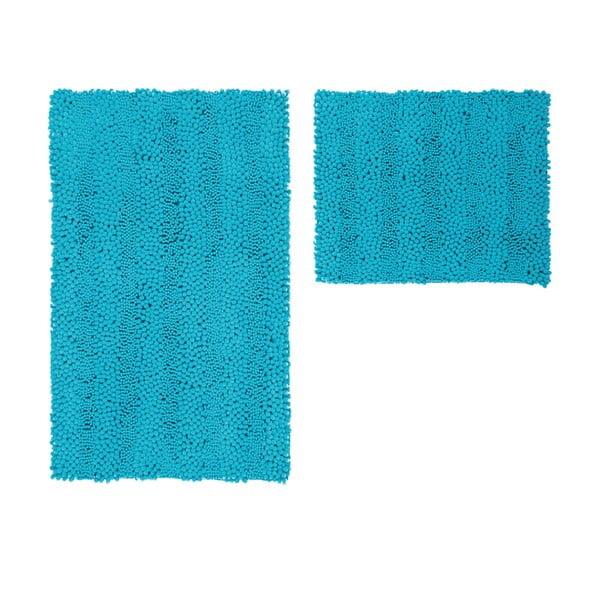 Sada 2 kúpeľňových predložiek Surface Turquoise