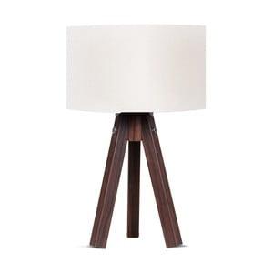Stolová lampa s bielym tienidlom Kate Louise Kahve