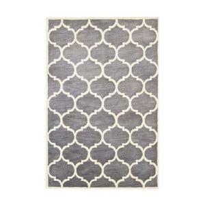 Ručne tuftovaný sivý koberec Bakero Florida, 183 x 122 cm