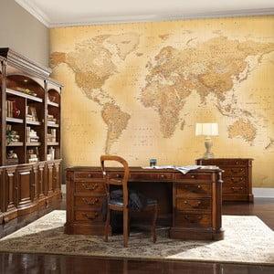 Veľkoformátová tapeta Old Map, 315x232 cm