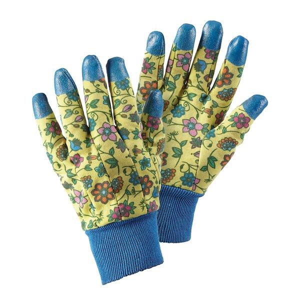 Záhradné rukavice s gumovými prstami Tapestry