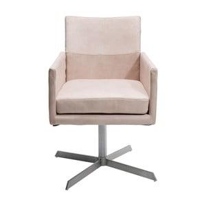 Krémová stolička Kare Design Dialog