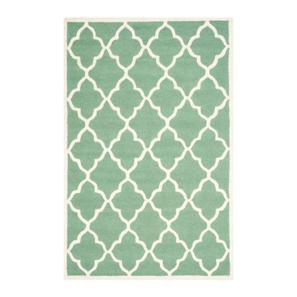 Vlnený koberec  Safavieh Noelle, 152x243 cm, zelený