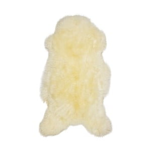 Krémová ovčia kožušina s dlhým vlasom British, 85 x 50 cm