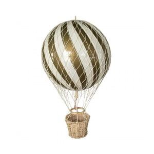 Ručne vyrobená závesná dekorácia s detailmi zlatej farby Filibabba Airballon, ⌀ 10cm