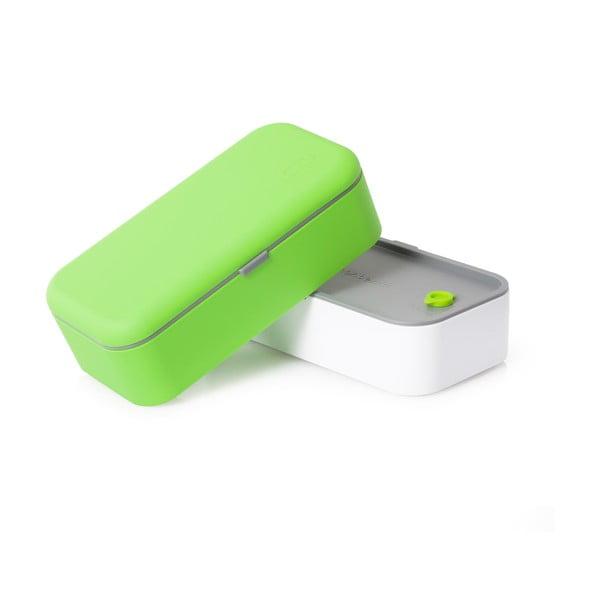 Bielo-zelený obedový box Monbento
