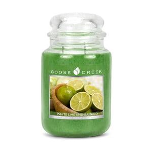 Vonná sviečka v sklenenej dóze Goose Creek Biela limonáda s bambusom, 150 hodín horenia
