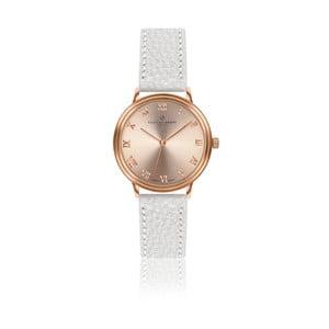 Dámske hodinky s bielym remienkom z pravej kože Frederic Graff Mandy