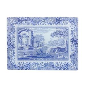 Bielo-modrá sklenená podložka na linku Spode Blue Italian