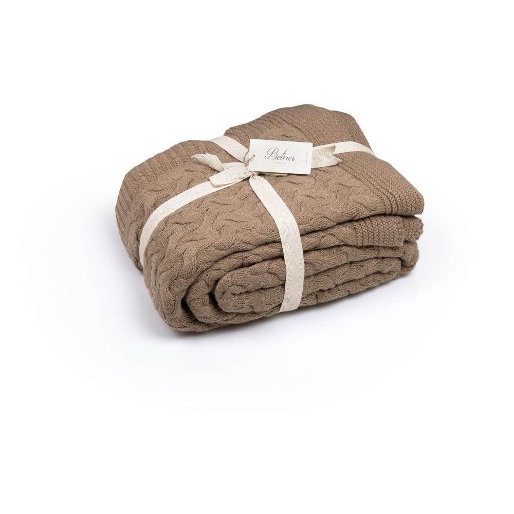 Hnedá deka Hunna, 220 × 240 cm
