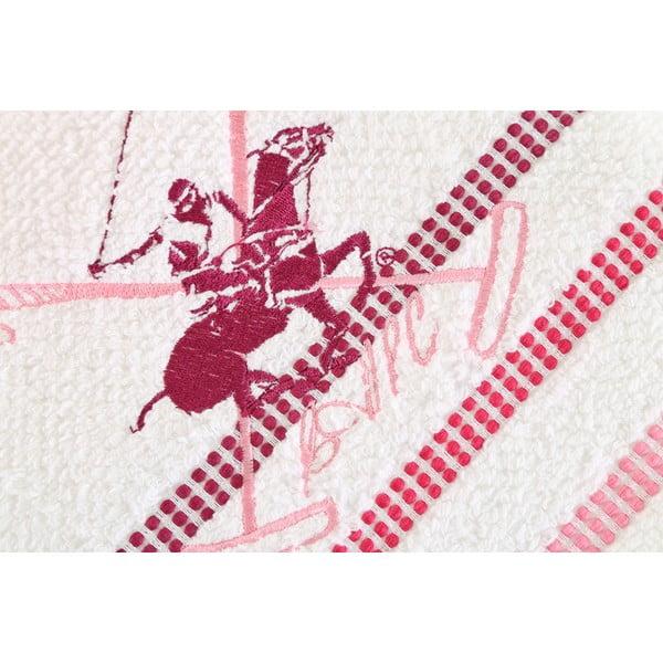 Bielo-ružový bavlnený uterák BHPC Special, 50x100 cm