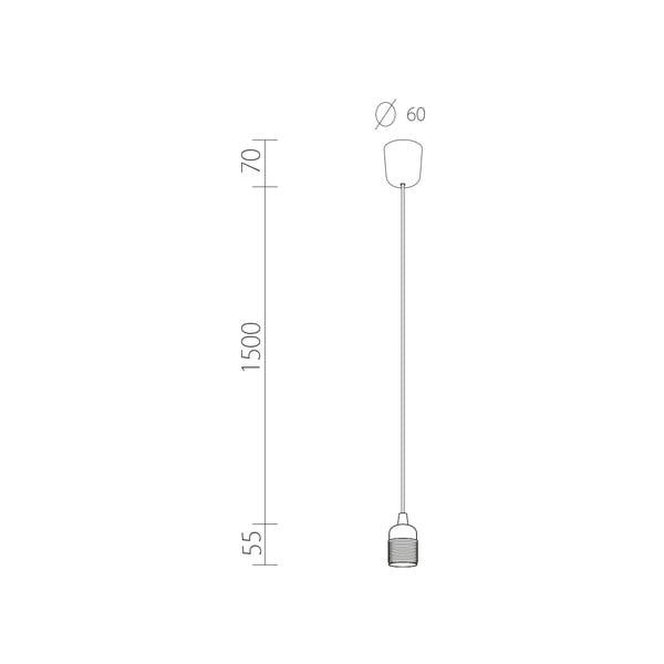 Závesný kábel Uno, čierna/zlatá