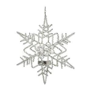 Závesná dekorácia so stojanom na sviečku Parlane Snow