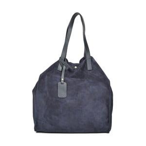 Modrá kožená kabelka Carla Ferreri Ashley Mento