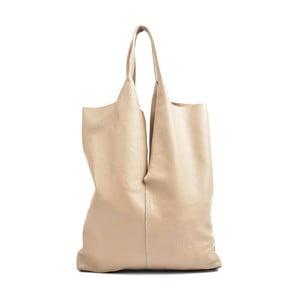 Ružovobéžová kožená kabelka Isabella Rhea Pemlio