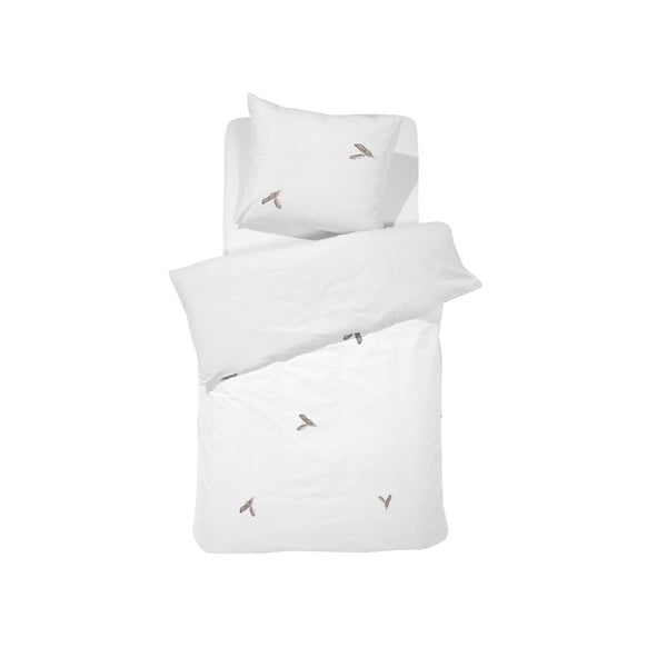 Obliečky Fjer White, 140x200 cm